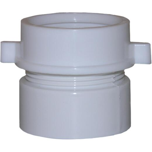 Lasco 1-1/2 In. x 1-1/2 In. White PVC Waste Adapter