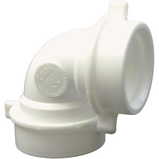 Lasco 1-1/2 In. White Plastic Elbow