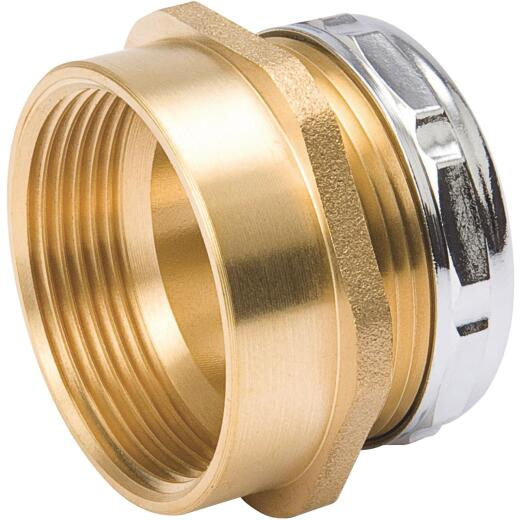 B&K 1-1/2 In. x 1-1/2 In. Brass Waste Adapter