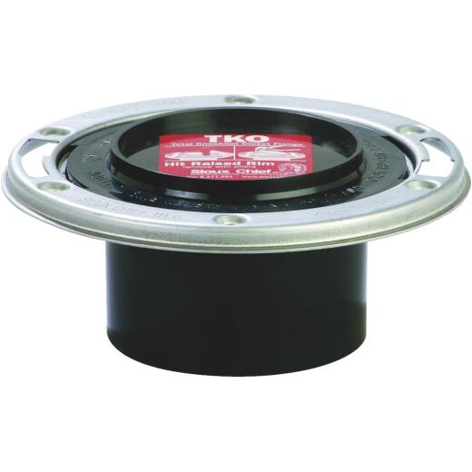 Sioux Chief 4 In. x 3 In. Total Knockout ABS Closet Flange