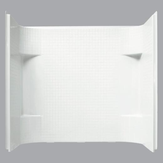 Sterling Accord 7114 Series 3-Piece 72 In. H Tub Wall Kit in White (Tile Pattern)