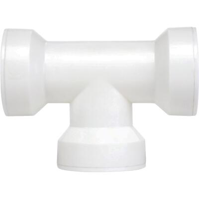 Keeney Insta-Plumb 1-1/2 In. White Plastic Coupling Tee