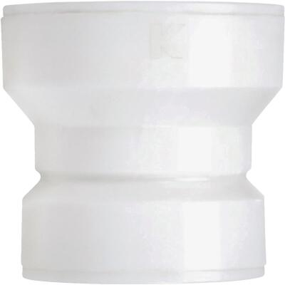 Keeney Insta-Plumb 1-1/2 In. x 1-1/2 In. White Plastic Trap Waste Adapter