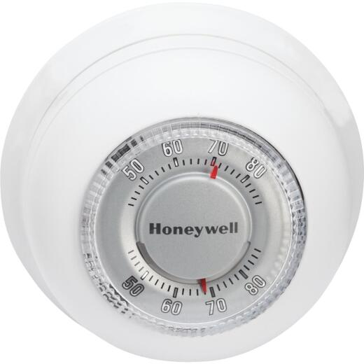Honeywell Heat Only 40 F to 90 F Off White Round Wall Thermostat
