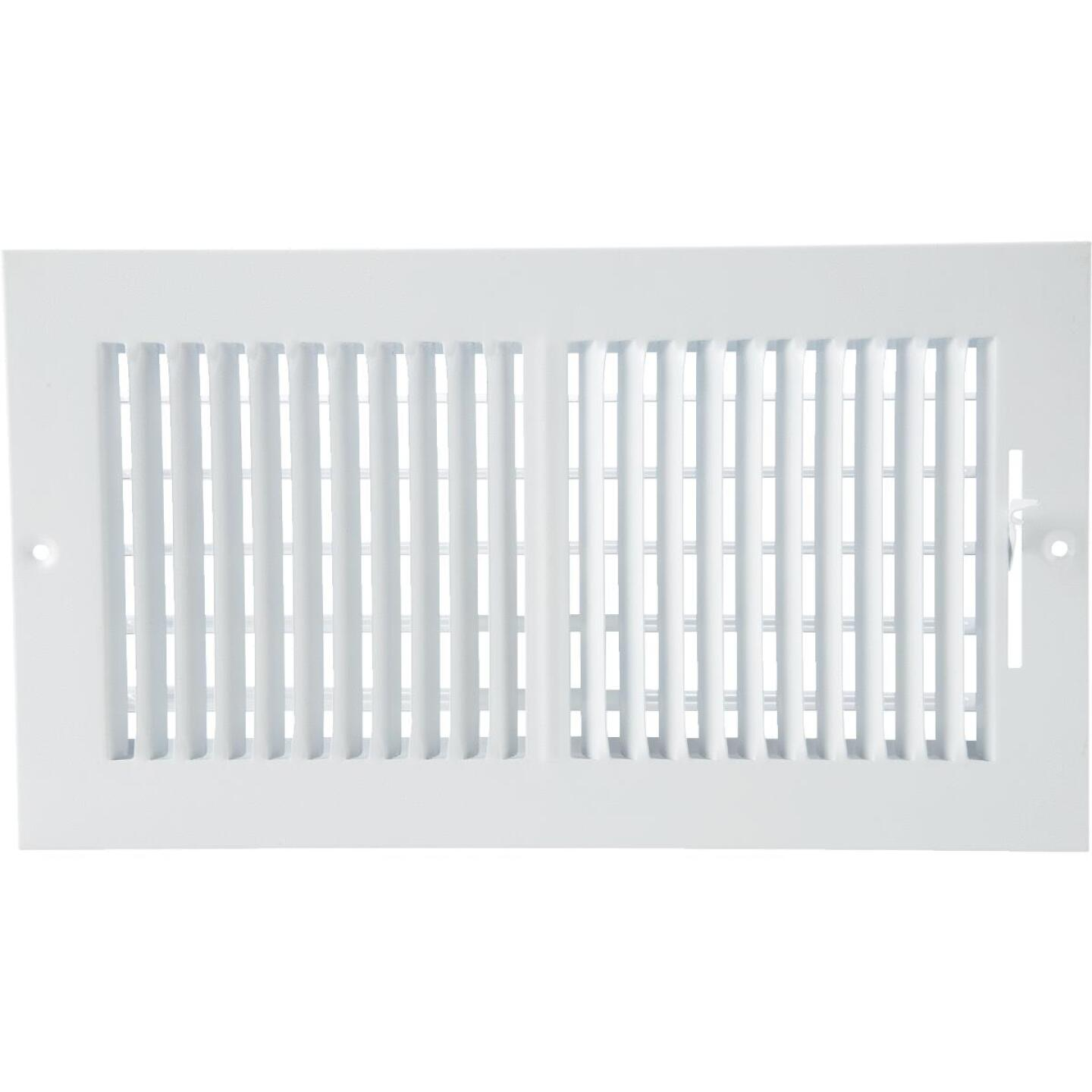 Home Impressions White Steel 7.76 In. Wall Register Image 3