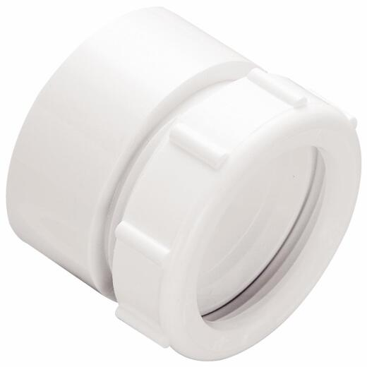 Do it 1-1/2 In. x 1-1/2 In. White Polyvinyl Chloride Waste Adapter
