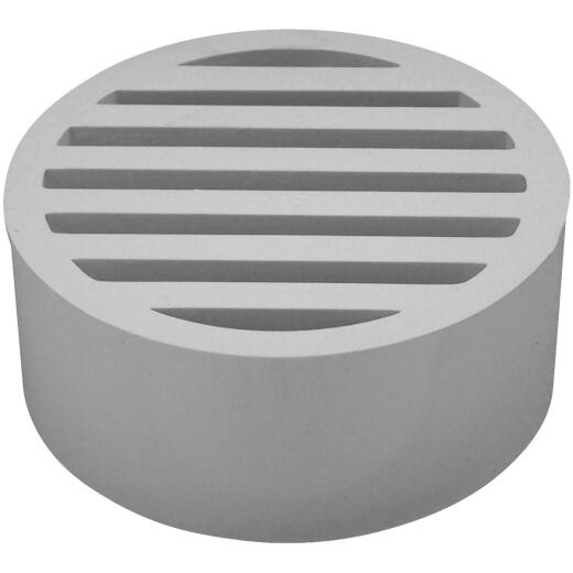 Genova Hub-Fit 4 In. PVC, Vinyl Floor Strainer