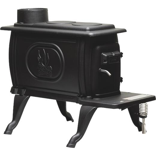 US Stove Logwood 900 Sq. Ft. Cast Iron Wood Stove