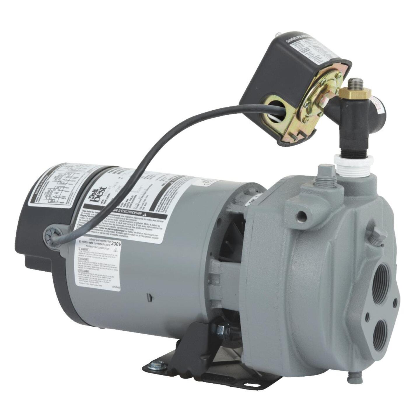 Do it Best 3/4 HP Cast Iron Water Conventional Well Jet Pump Image 1
