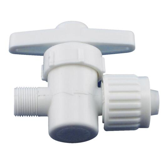 Flair-it 1/2 In. P x 3/8 In. Compression Plastic White Straight Valve