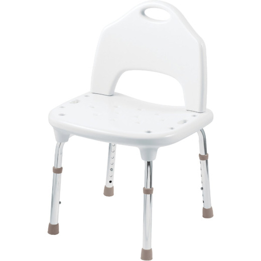 Moen Home Care 400 Lb. White Adjustable Shower & Tub Seat