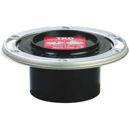 Sioux Chief 3 In.ABS Flange Toilet Flange with Stainless Steel Ring