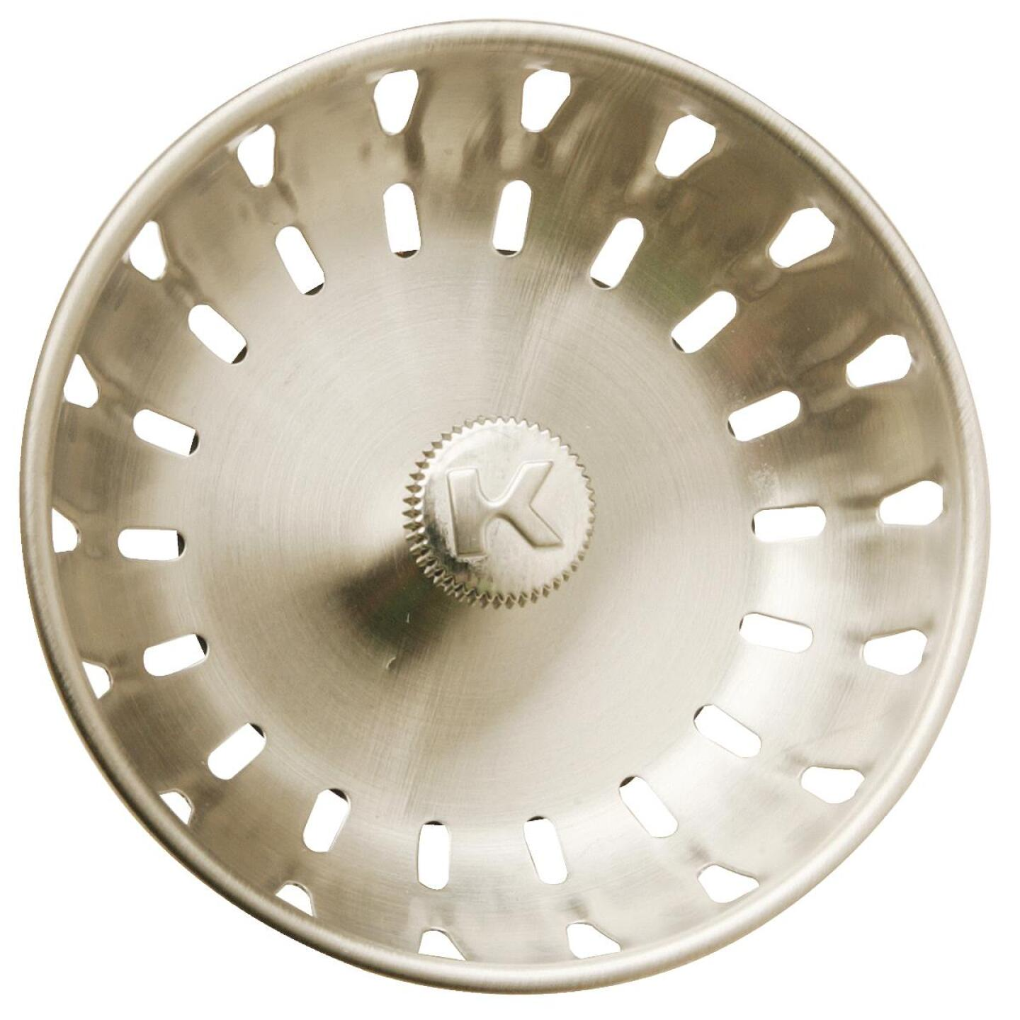Do it Brushed Nickel Replacement Basket Strainer Cup with Fixed Post Image 1