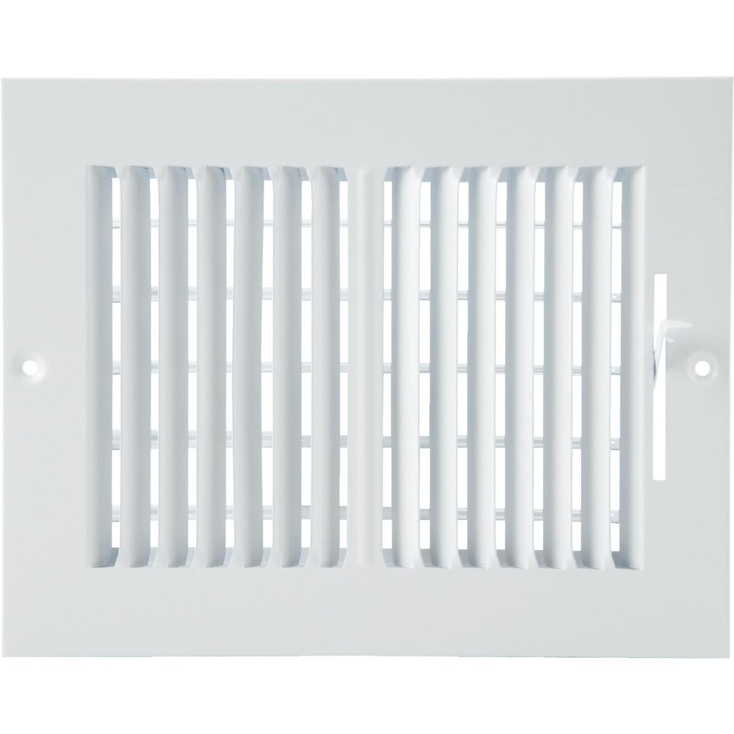 Home Impressions White Steel 7.76 In. Wall Register Image 2