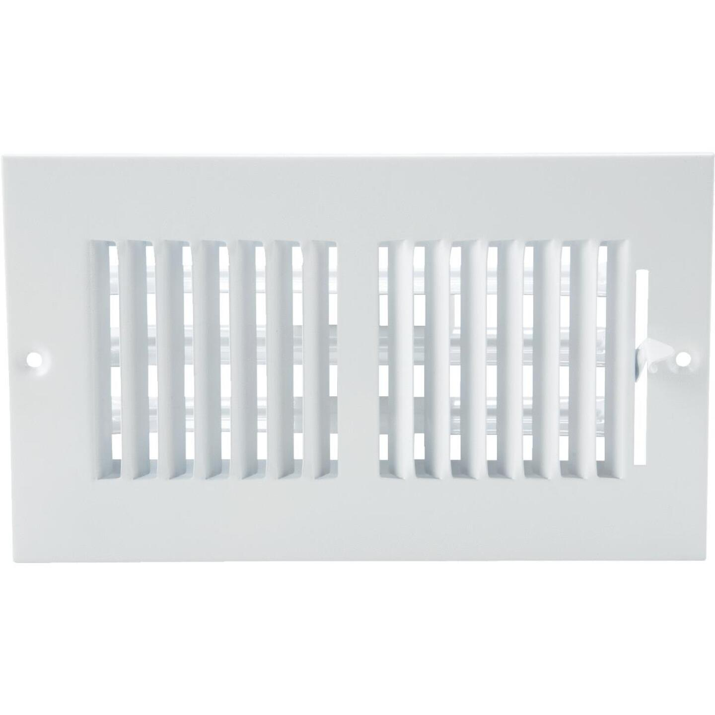 Home Impressions White Steel 5.75 In. Wall Register Image 3