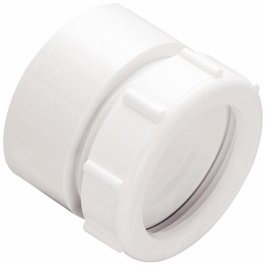 Do it 1-1/2 In. x 1-1/2 In. White Plastic Waste Adapter