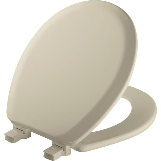 Mayfair Advantage Round Closed Front Bone Wood Toilet Seat