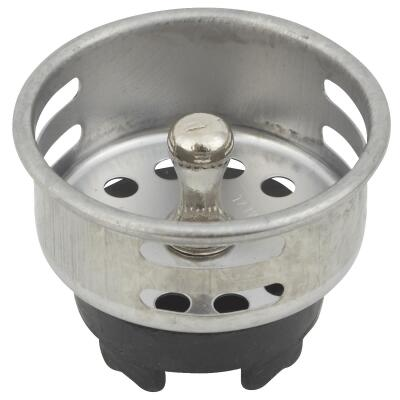 Do it 2 In. Chrome Jr. Duo Basket Strainer Stopper