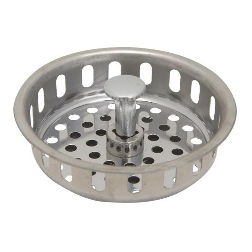 Do it 3-1/2 In. Stainless Steel Adjustable Post Basket Strainer Stopper