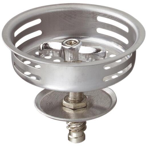 Do it 3-1/2 In. Stainless Steel Turn2Seal Threaded Post Basket Strainer Stopper