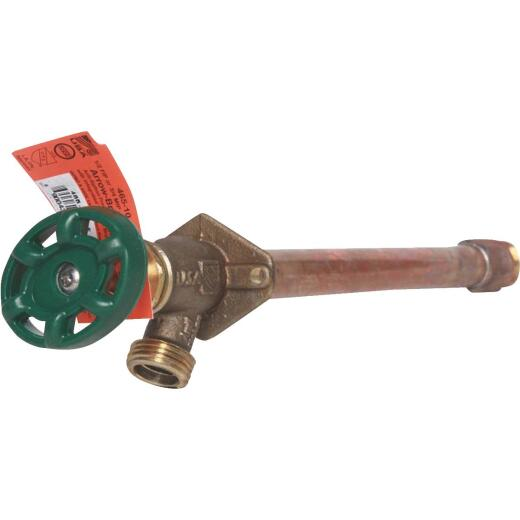 Arrowhead Brass 1/2 In. X 1/2 In. MIP X 3/4 In. HT X 10 In. Anti-Siphon Frost Free Wall Hydrant