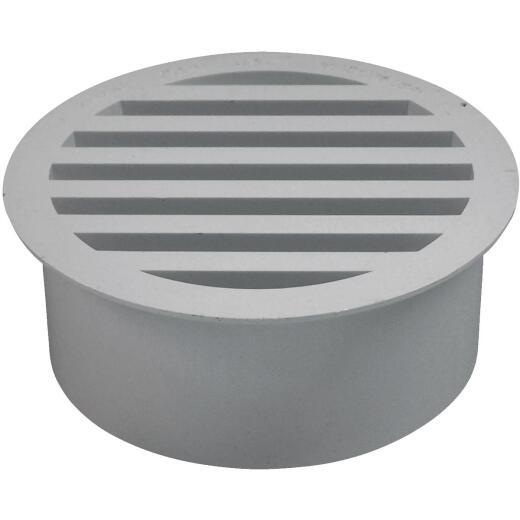 Genova Pipe-Fit 4 In. PVC Floor Strainer