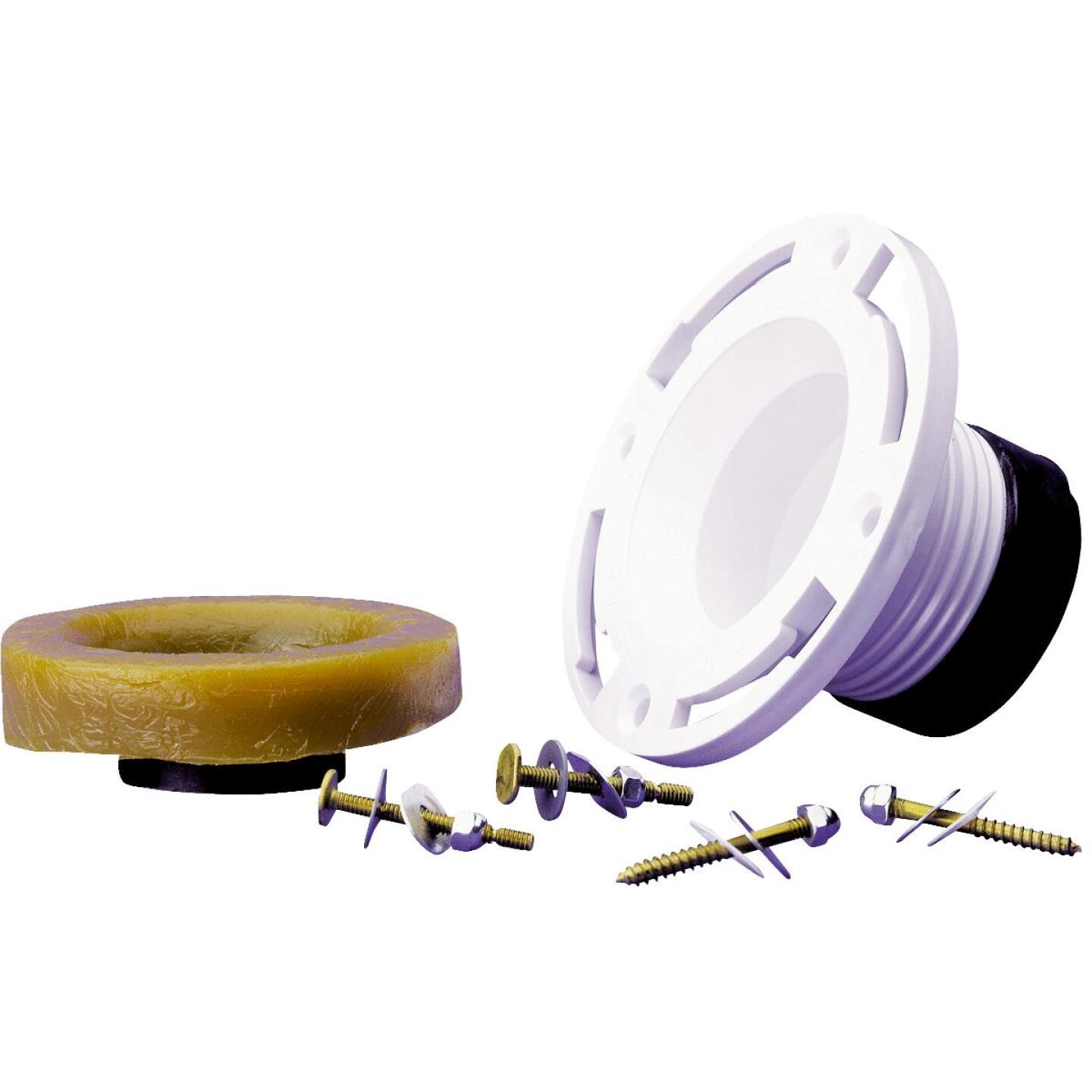 Oatey 4 In. 4 In. Cast Iron or Schedule 40 DWV PVC Closet Flange Repair Kit Image 1