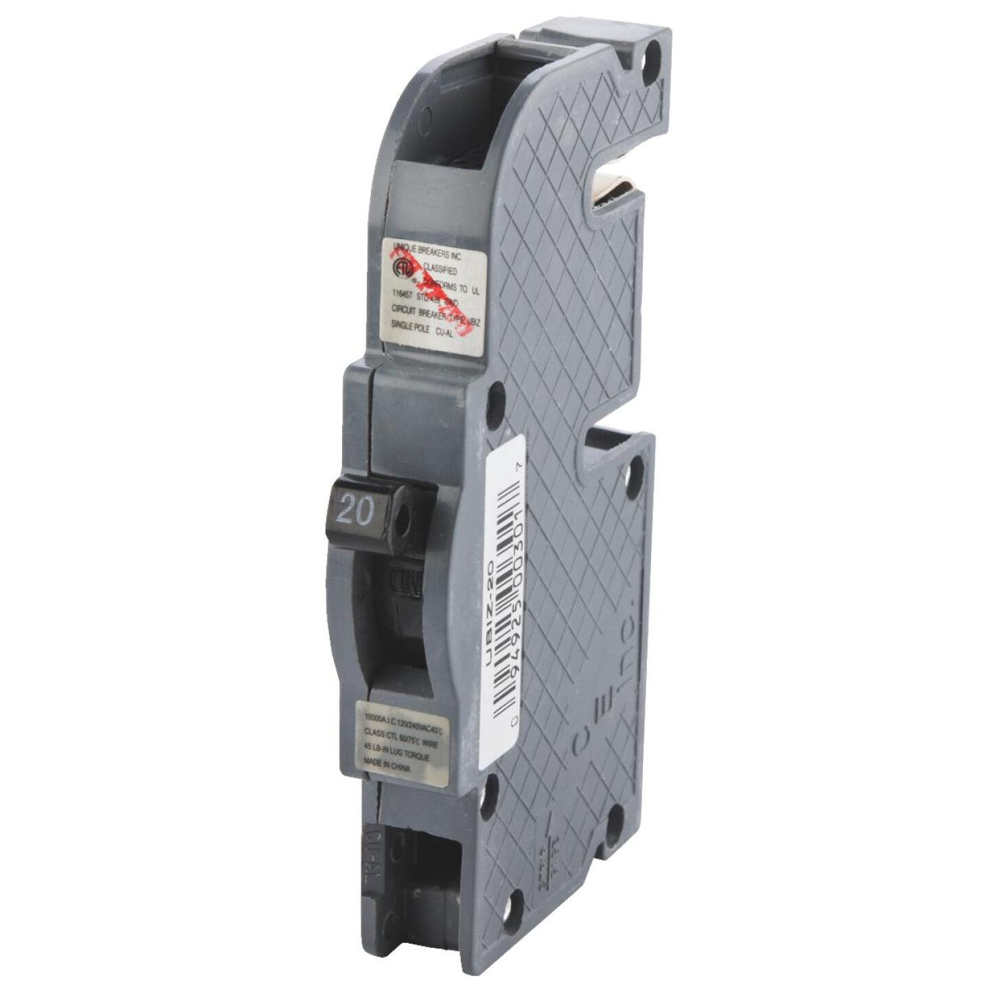 Connecticut Electric 20A Single-Pole Standard Trip Packaged Replacement Circuit Breaker For Zinsco Image 3