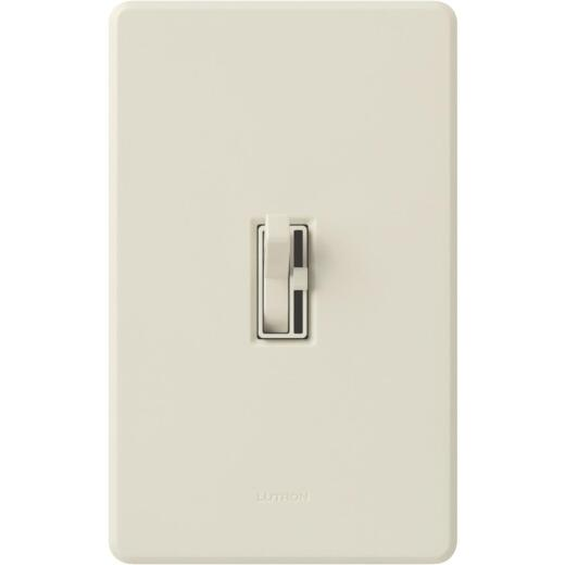Lutron Toggler Incandescent/Halogen/LED/CFL Light Almond Slide Dimmer Switch
