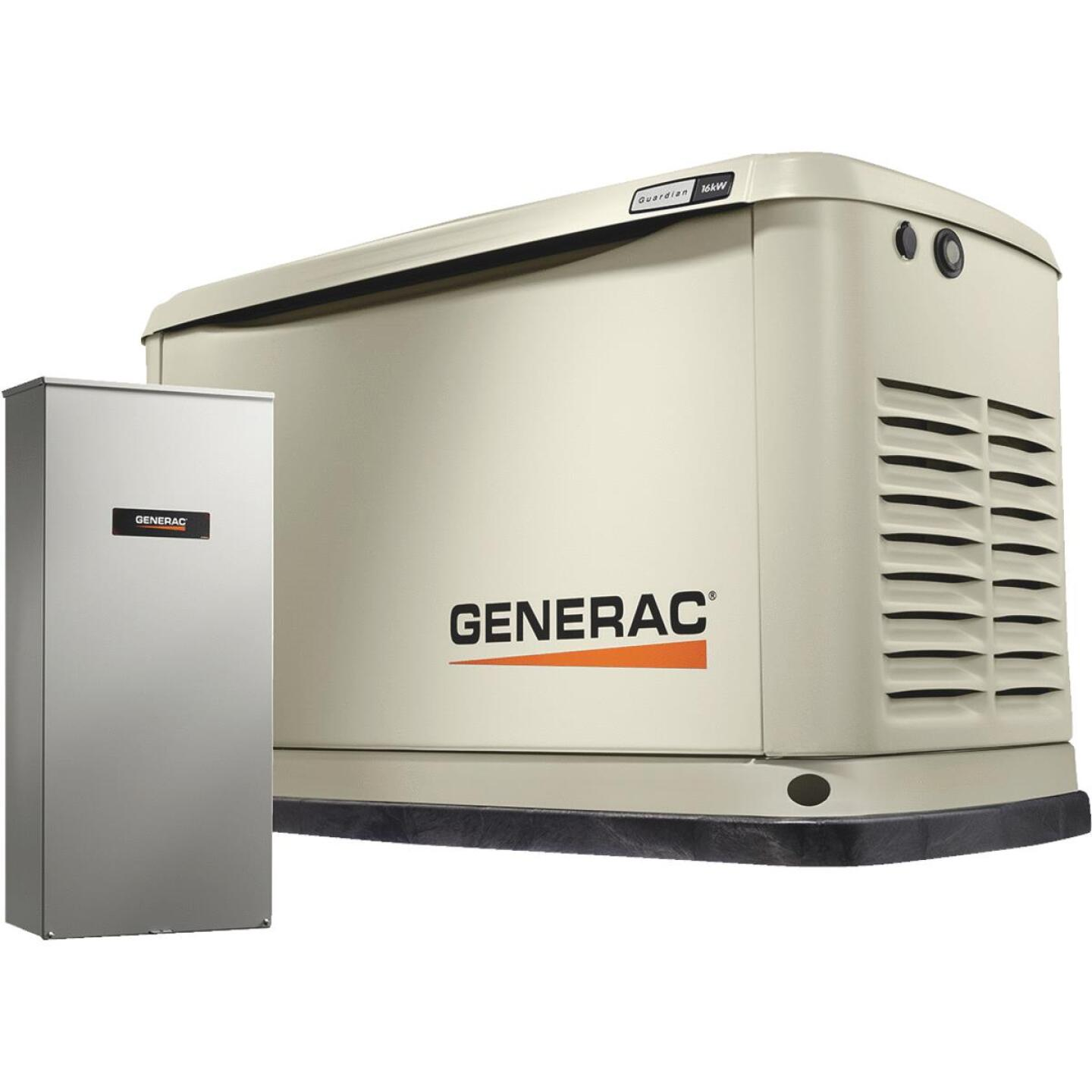 Generac Guardian WiFi 16,000W Natural Gas/LP Home Standby Generator with 200A Automatic Transfer Switch Image 1