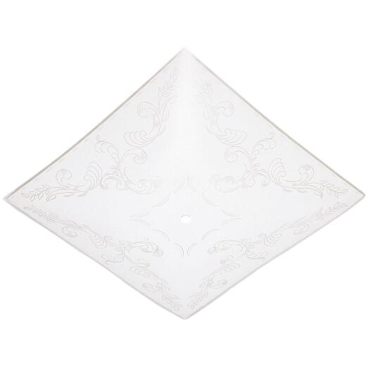 Westinghouse 14 In. White Square Floral Design Ceiling Diffuser