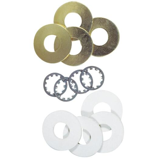 Westinghouse 1/8 IP Brass-Plated Steel Lamp Washer (12-Piece)