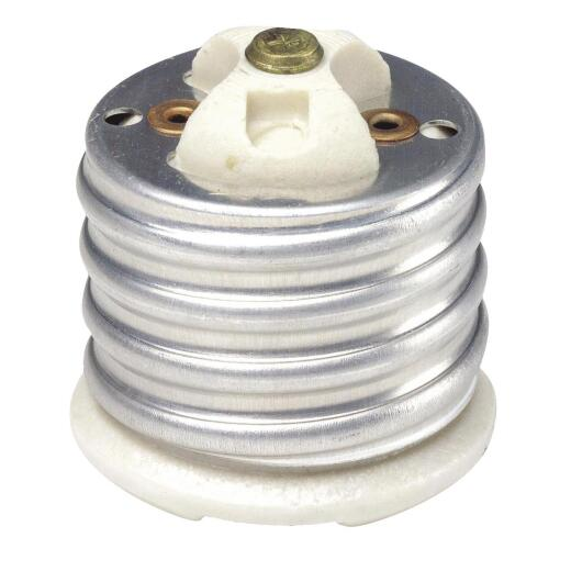 Leviton Mogul to Medium Base 660W White Porcelain Socket Reducer