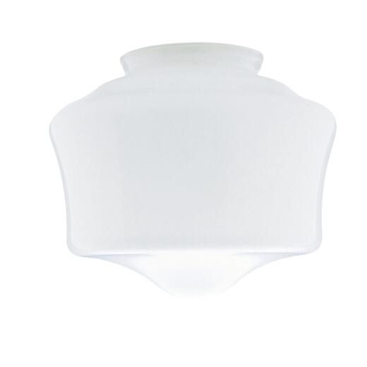 Westinghouse White 6-1/4 In. x 7-1/4 In. Schoolhouse Ceiling Shade