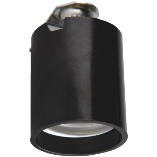 Leviton Keyless Medium Base Black Lamp Socket