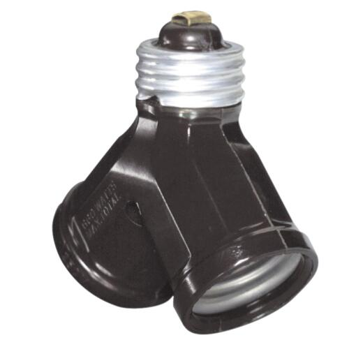Leviton Brown 125V Twin Socket Adapter