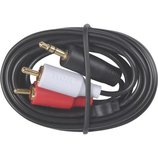RCA 3 Ft. Single 3.5 mm Male RCA Y-Adapter