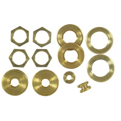 Westinghouse Brass 1/8 In. IP Lamp Fixture Lock Nut Assortment (12-Piece)