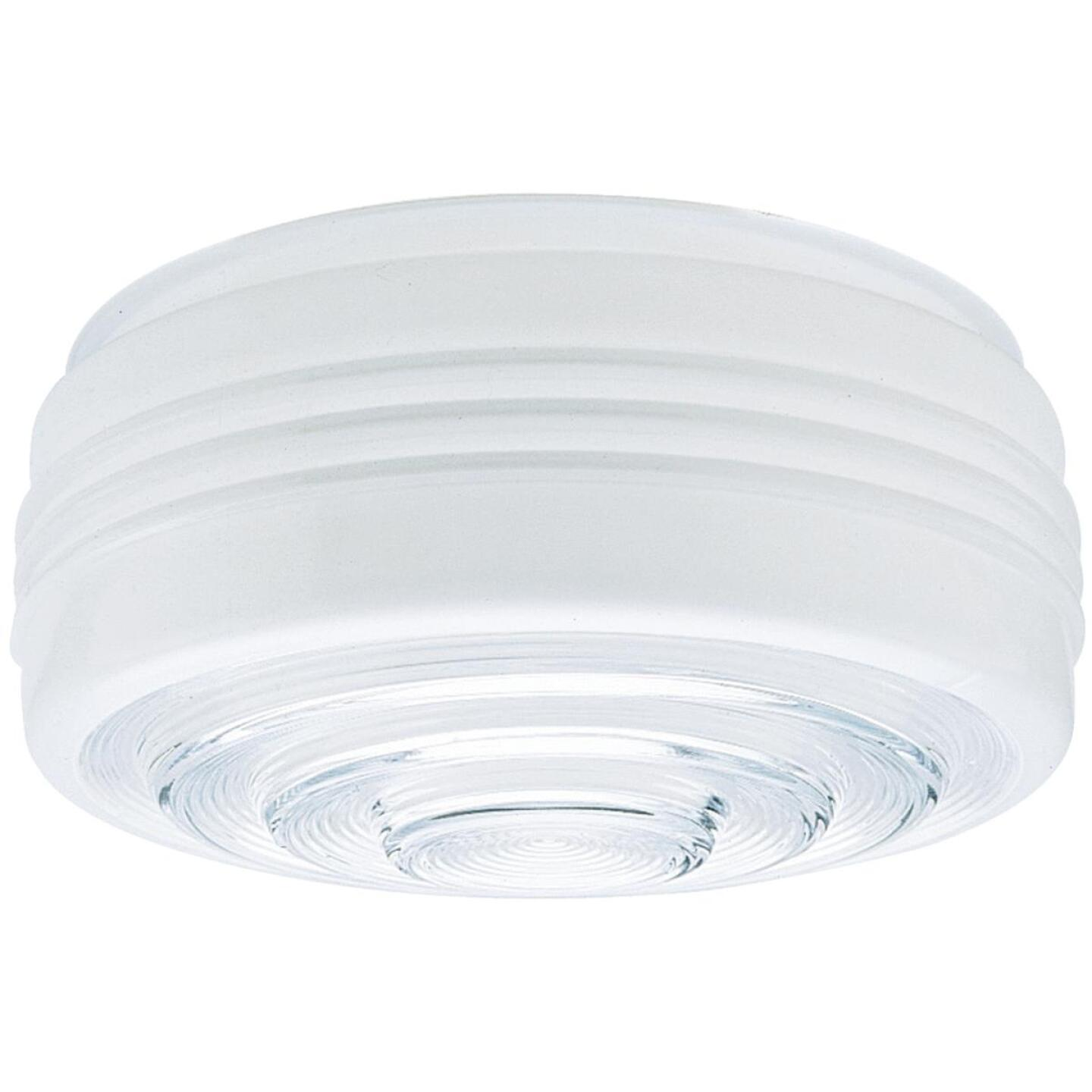 Westinghouse White & Clear 4-1/4 In. x 11 In. Drum Ceiling Shade Image 1