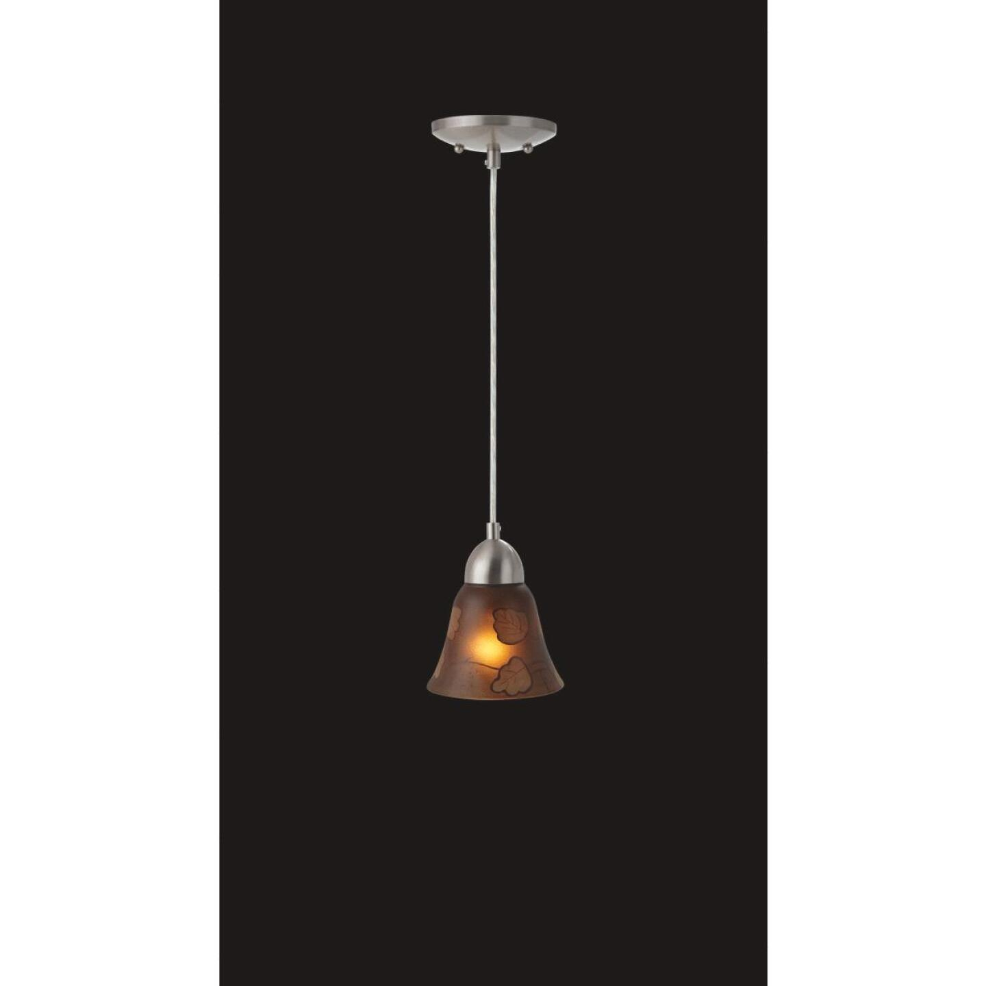 Westinghouse 4-3/4 In. Brown Leaf Glass Shade Image 2