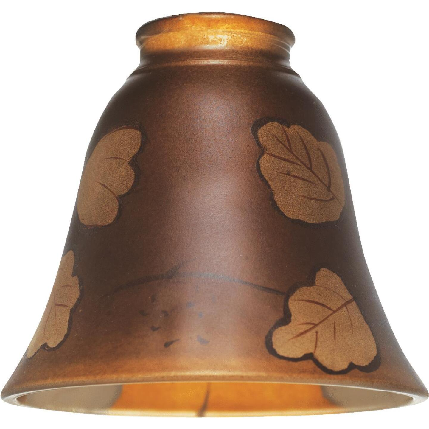 Westinghouse 4-3/4 In. Brown Leaf Glass Shade Image 1