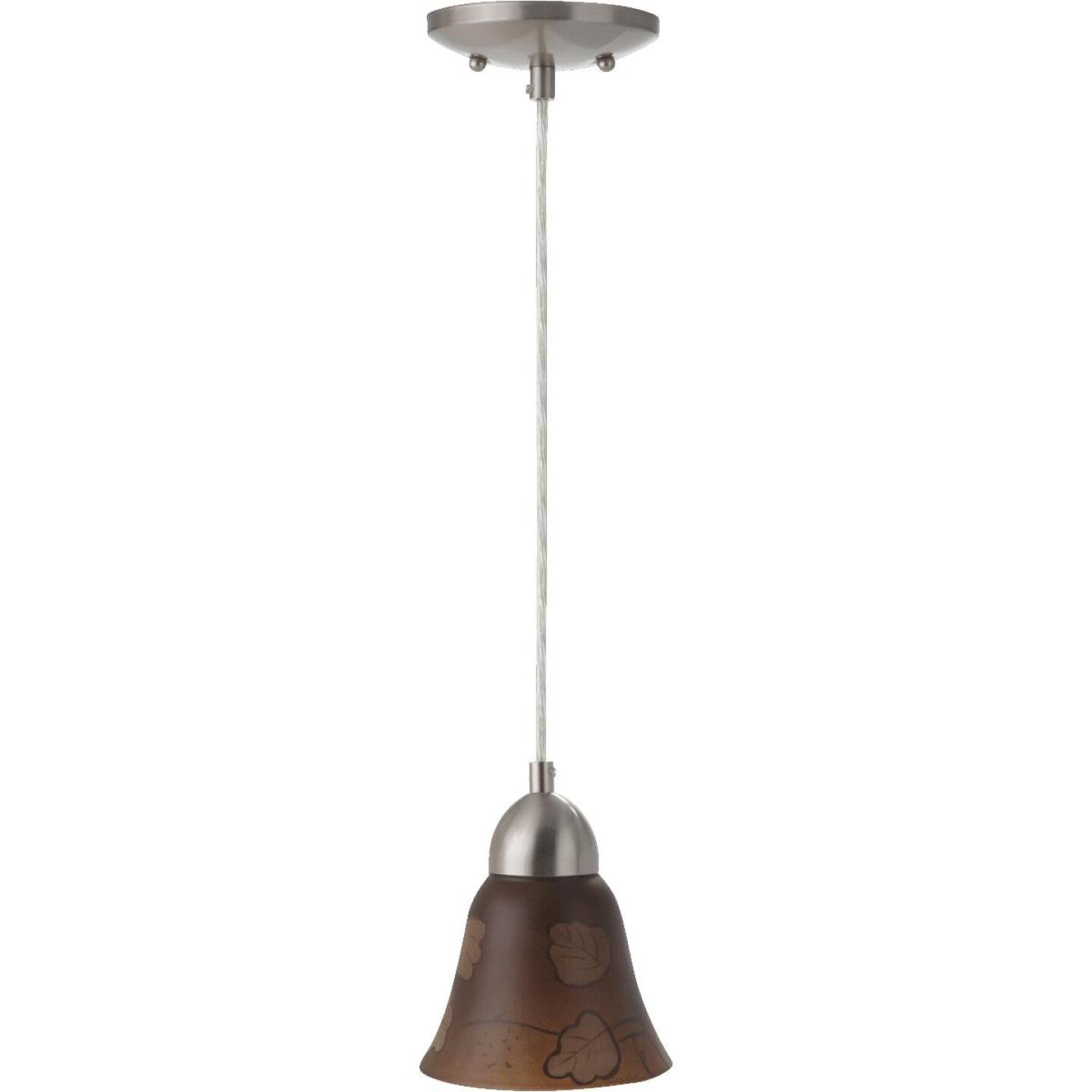 Westinghouse 4-3/4 In. Brown Leaf Glass Shade Image 3