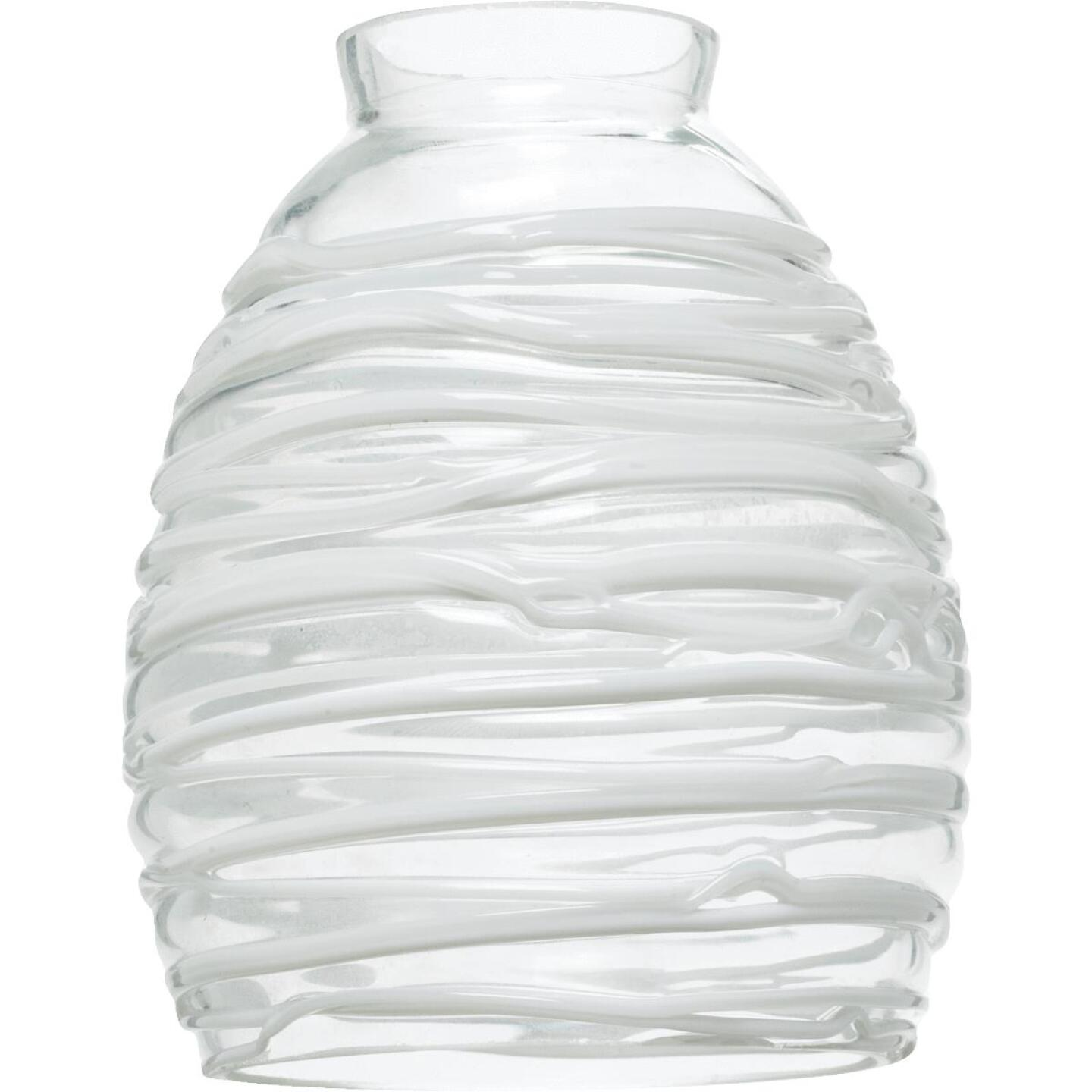 Westinghouse 5-3/4 In. Clear White Glass Shade Image 1