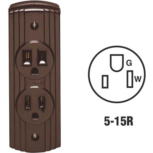 Leviton 15A Surface Mount Brown 5-15R Power Outlet