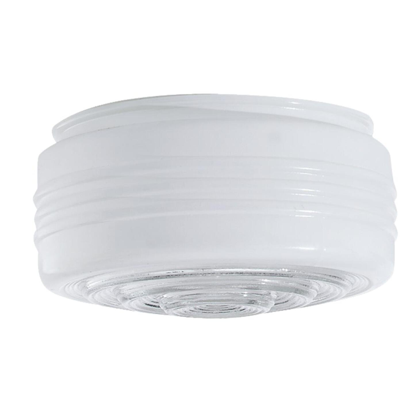Westinghouse White & Clear 3-3/8 In. x 6-1/2 In. Drum Ceiling Shade Image 1