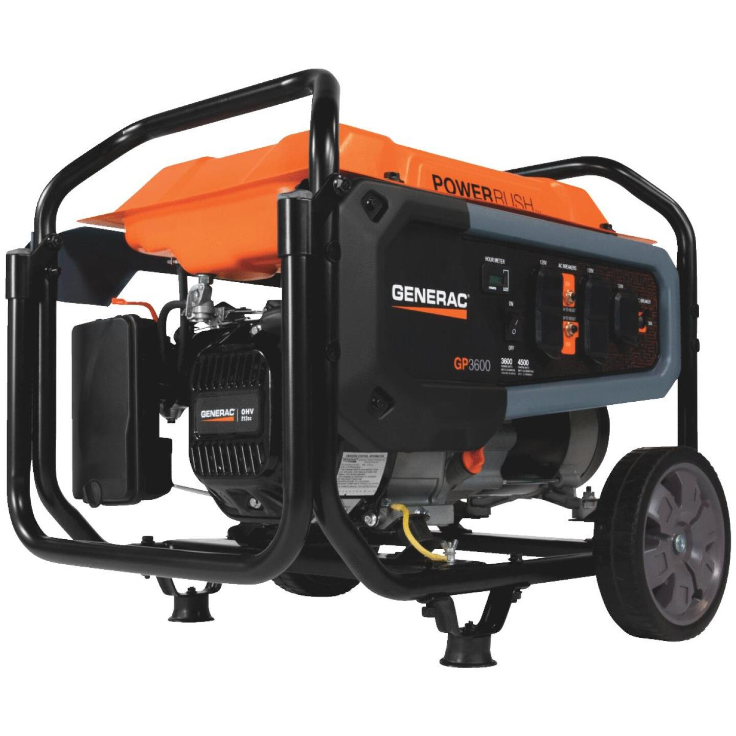 Generac 3600W Gasoline Powered Recoil Pull Start Portable Generator Image 1