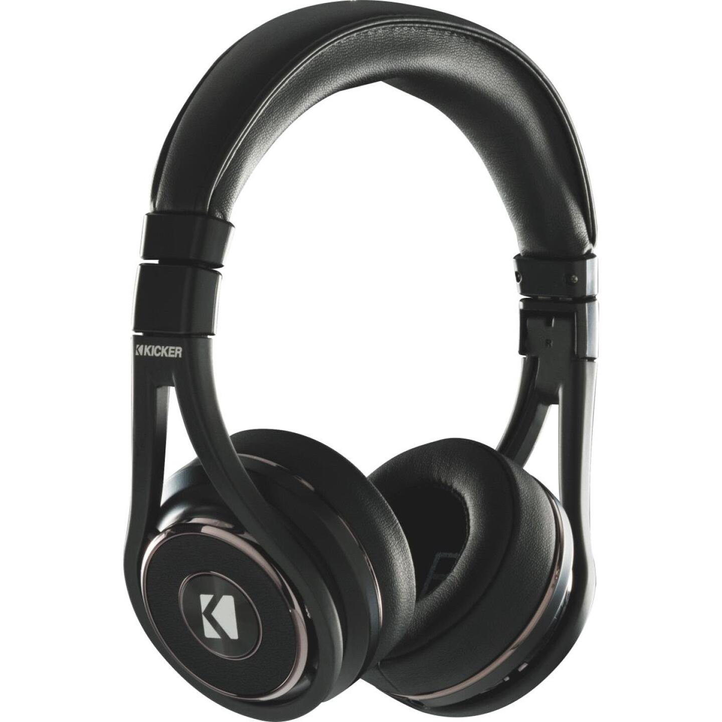 Kicker CushBT Bluetooth Wireless/Wired Black Headphones Image 1