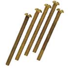Westinghouse 2 In. Brass-Plated Round Head Fixture Screws (5-Pack) Image 1