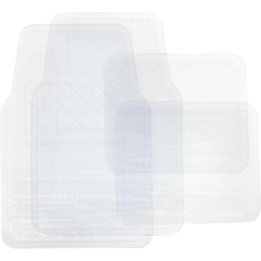 Custom Accessories Clear Rubber Floor Mat (4-Piece)