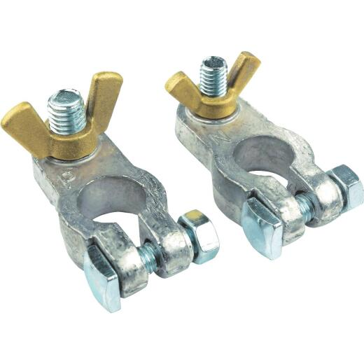 Seachoice Clamp Wing Nut Lead Alloy Battery Terminal, (2-Count)
